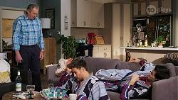 Karl Kennedy, Aaron Brennan, David Tanaka in Neighbours Episode 8461