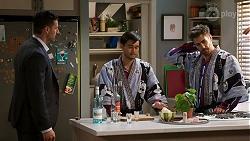 Pierce Greyson, David Tanaka, Aaron Brennan in Neighbours Episode 8461