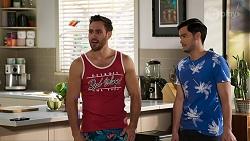 Aaron Brennan, David Tanaka in Neighbours Episode 8462