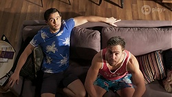 David Tanaka, Aaron Brennan in Neighbours Episode 8462