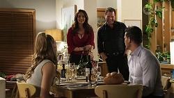 Chloe Brennan, Dipi Rebecchi, Shane Rebecchi, Pierce Greyson in Neighbours Episode 8462