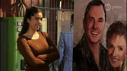 Yashvi Rebecchi, Karl Kennedy, Susan Kennedy in Neighbours Episode 8464