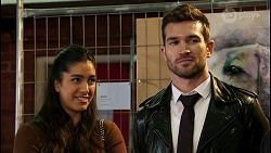 Yashvi Rebecchi, Ned Willis, Bouncer in Neighbours Episode 8464