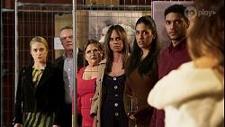 Roxy Willis, Paul Robinson, Terese Willis, Bea Nilsson, Yashvi Rebecchi, Levi Canning, Scarlett Brady in Neighbours Episode 8464