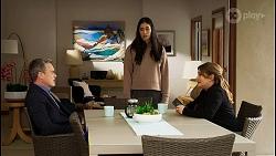 Paul Robinson, Yashvi Rebecchi, Terese Willis in Neighbours Episode 8465
