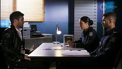Ned Willis, Yashvi Rebecchi, Levi Canning in Neighbours Episode 8466