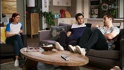 Nicolette Stone, David Tanaka, Aaron Brennan in Neighbours Episode 8466