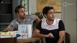 Aaron Brennan, David Tanaka in Neighbours Episode 8466