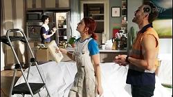 David Tanaka, Nicolette Stone, Aaron Brennan in Neighbours Episode 8466