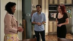 Audrey Hamilton, David Tanaka, Nicolette Stone in Neighbours Episode 8467