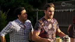 David Tanaka, Aaron Brennan in Neighbours Episode 8467