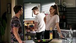 Aaron Brennan, Hendrix Greyson, Chloe Brennan in Neighbours Episode 8467