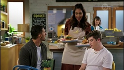 Pierce Greyson, Dipi Rebecchi, Hendrix Greyson in Neighbours Episode 8468