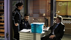 Yashvi Rebecchi, Levi Canning, Det. Bill Graves in Neighbours Episode 8471