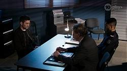 Ned Willis, Det. Bill Graves, Levi Canning in Neighbours Episode 8472