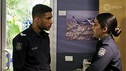 Levi Canning, Yashvi Rebecchi in Neighbours Episode 8472