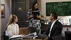 Chloe Brennan, Dipi Rebecchi, Pierce Greyson in Neighbours Episode 8472