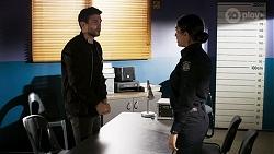 Ned Willis, Yashvi Rebecchi in Neighbours Episode 8472