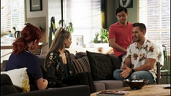 Nicolette Stone, Chloe Brennan, David Tanaka, Aaron Brennan in Neighbours Episode 8475