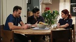 Aaron Brennan, David Tanaka, Nicolette Stone in Neighbours Episode 8476