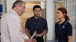 Karl Kennedy, David Tanaka, Nicolette Stone in Neighbours Episode 8476