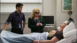 David Tanaka, Sheila Canning, Kyle Canning in Neighbours Episode 8477