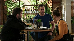 Ned Willis, Aaron Brennan, Bea Nilsson in Neighbours Episode 8477