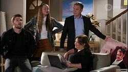 Ned Willis, Harlow Robinson, Paul Robinson, Terese Willis in Neighbours Episode 8477