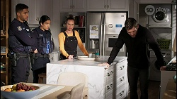 Levi Canning, Yashvi Rebecchi, Bea Nilsson, Ned Willis in Neighbours Episode 8477