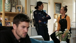 Ned Willis, Yashvi Rebecchi, Bea Nilsson in Neighbours Episode 8478