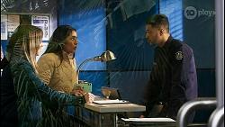 Bea Nilsson, Yashvi Rebecchi, Levi Canning in Neighbours Episode 8478
