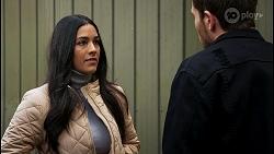 Yashvi Rebecchi, Ned Willis in Neighbours Episode 8478