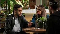 Levi Canning, Bea Nilsson, Ned Willis in Neighbours Episode 8479