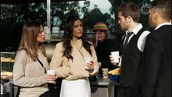 Bea Nilsson, Yashvi Rebecchi, Ned Willis, Levi Canning in Neighbours Episode 8480