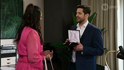 Dipi Rebecchi, Pierce Greyson in Neighbours Episode 8480