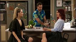 Chloe Brennan, Aaron Brennan, Nicolette Stone in Neighbours Episode 8481