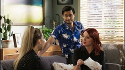 Chloe Brennan, David Tanaka, Nicolette Stone in Neighbours Episode 8481
