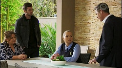 Terese Willis, Ned Willis, Harlow Robinson, Paul Robinson in Neighbours Episode 8484
