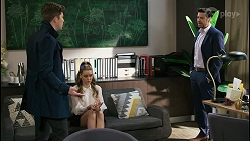 Hendrix Greyson, Chloe Brennan, Pierce Greyson in Neighbours Episode 8484