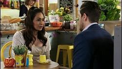 Dipi Rebecchi, Pierce Greyson in Neighbours Episode 8484