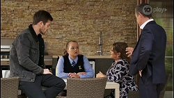 Ned Willis, Harlow Robinson, Terese Willis, Paul Robinson in Neighbours Episode 8484