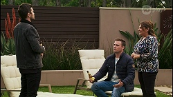Ned Willis, Kyle Canning, Terese Willis in Neighbours Episode 8485
