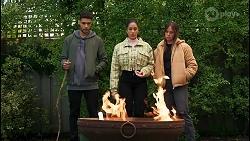 Levi Canning, Yashvi Rebecchi, Bea Nilsson in Neighbours Episode 8485
