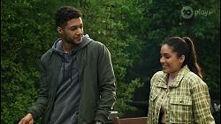 Levi Canning, Yashvi Rebecchi in Neighbours Episode 8486