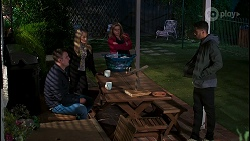 Kyle Canning, Roxy Willis, Sheila Canning, Levi Canning in Neighbours Episode 8486