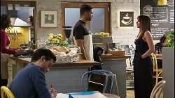 David Tanaka, Levi Canning, Bea Nilsson in Neighbours Episode 8486