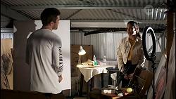 Ned Willis, Yashvi Rebecchi in Neighbours Episode 8486