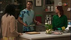 Audrey Hamilton, Aaron Brennan, Nicolette Stone in Neighbours Episode 8487