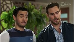 David Tanaka, Aaron Brennan in Neighbours Episode 8488