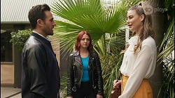 Aaron Brennan, Nicolette Stone, Chloe Brennan in Neighbours Episode 8489